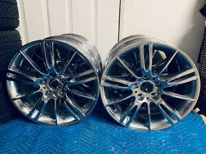 Bmw Oem M Sport Style 193 18 Inch Wheels Rims E90 E91 E92 E93 Grey Chrome