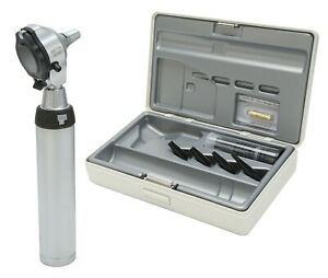 Heine Beta 400 F o Otoscope 2 5v Xhl With Beta Battery Handle Tips And Case