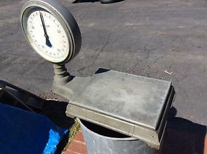 Antique 2 Sided Chatillon Cast Iron Bench Top 50 Lb Weighing Scale Very Good
