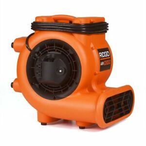 Ridgid Blower Fan Air Mover 1625 Cfm 1 4 Hp Grounded Built in Power Outlets