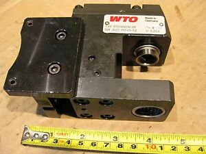 Wto 311500000 38 Live Angle Tool Holder Turret Turning Cnc Right Milling Adapter