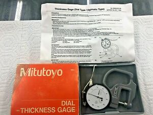 Mitutoyo 7326 Dial Thickness Gauge With User Manual