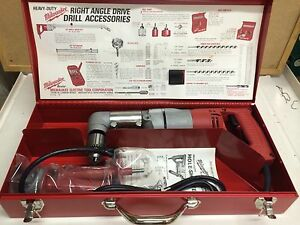 New Milwaukee 3002 1 Reversing Electricians Drill Kit Right Angle discontinued