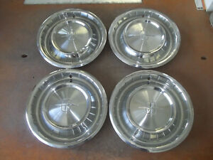 1961 61 Lincoln Hubcap Rim Wheel Cover Hub Cap 14 Oem Used Ah3 Set 4