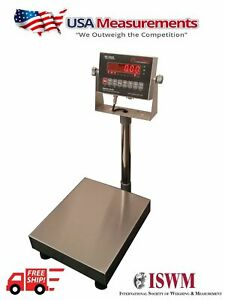 Bench Scale Usa Measurements Op 915 Legal For Trade 24 x24 500 Lb Ntep