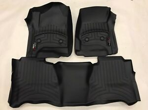 Weathertech Floorliner Mats For Silverado Sierra Crew Cab 1st 2nd Row Black