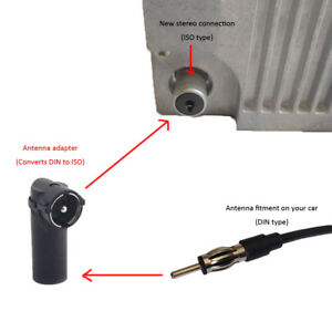 Car Aerial Antenna Adaptor Connector For Car Radio Din To Iso Female To Male G