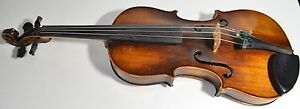Antique Old Beautiful German Franz Hell 4 4 Violin 1920s Made In Germany