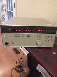 Hp 4193a Vector Impedance Meter untested Parts Or Repair Free Shipping