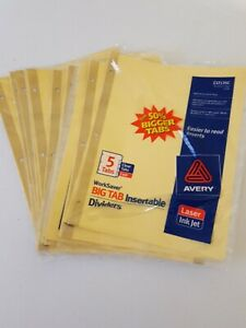 Lot Of 20 Packs Avery Worksaver 5 Big Tab Insertable Divider Blank 8 50 X 11