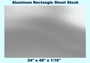 Aluminum Rectangle Sheet Stock 24 X 48 X 1 16 3003 Alloy Mill Finish Plate