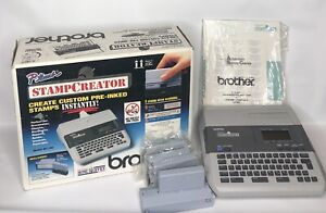 Brother P Touch Stamp Creator Printer Sc 100 Custom Pre Inked Stamps With Box