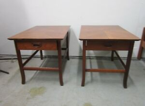 Pair Mid Century Danis Modern Teak End Tables Grete Jalk