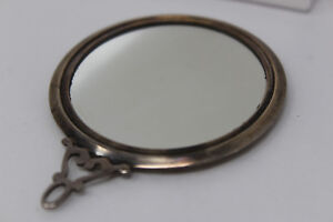 Antique Sterling Silver Webster Company Small Miniature Round Mirror G1