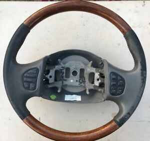 Oem Ford Leather wood Steering Wheel F 250 F 350 Excursions Navigator Lincoln