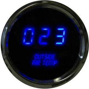 Intellitronix Led Outside Air Temperature Gauge In Chrome Bezel Blue