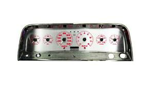 Intellitronix Chevy Truck 64 66 3d Analog Gauge Panel Red