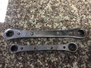 Snap On 6 Point Box Ratcheting Wrench 2pc Set Rbm1011s And Rbm1213s