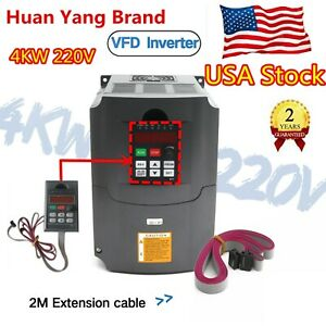 usa 4000w 5hp 4kw 220v Vfd Variable Frequency Drive Inverter Single To 3 Phase