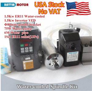 1 5kw Water Cooling Spindle Motor Er11 24000rpm inverter clamp pump collets usa