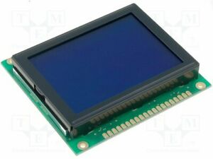 Display Lcd Graphical Stn Negative 128x64 Blue Led Pin 20 Graphic Screen