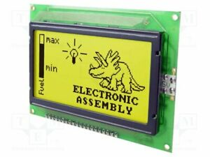 Display Lcd Graphical Stn Positive 128x64 Yellow green Led Graphic Screen