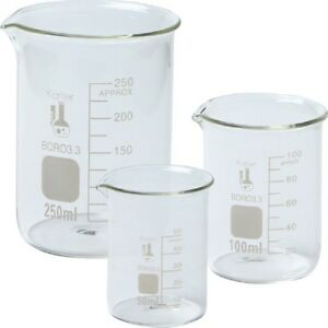 Single 214t2 3 3 Boro Griffin Low Form Glass Beaker Set 3 Size Extra Large