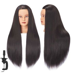 Mannequin Head Hair Hairdresser Training With Free Clamp