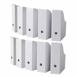 File Holder Ikea Office Desk Organizer Magazine Paper Book Pack Of 10 New