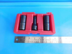 New Matco Tools 3 Pc 6 Point Flip Socket Lug Nut Set And Extension 1 2 Dr