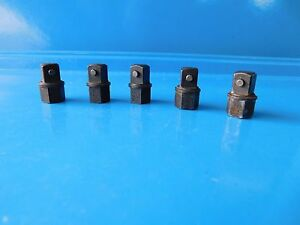 Used mac 1 2 Hex Ball Type To 3 8 Square Pin Type Adaptors Part x16da Lot Of 5