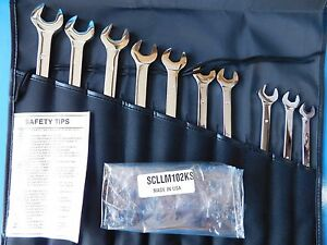 New Mac Tools Metric Extra Long Wrench 10 Pc Set csllm102ks With Bag