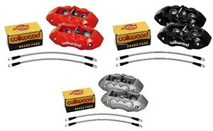 Wilwood Front Caliper Set d8 6 Piston Black Calipers 1965 1982 Corvette c2 c3