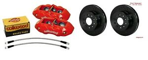 Wilwood Front Caliper Rotor Set d8 6 Piston Red Calipers 1965 1982 Corvette c2