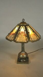 Antique Arts And Craft Signed Pairpoint Table Lamp Circa 1910 11804