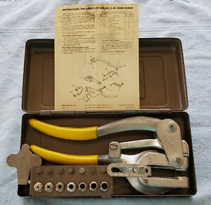Roper Whitney No 5 Junior Hand Punch Set With 7 Punch And Dies