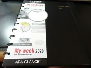 At a glance 2020 Move a page Weekly monthly Appointment Book No 70 950e 05