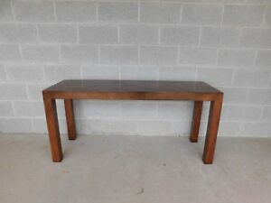 Lane Furniture Contemporary Parquet Inlaid Top Console Table 56 W