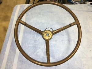 1968 1969 Dodge Charger Coronet Plymouth Roadrunner 3 Spoke Steering Wheel Brown