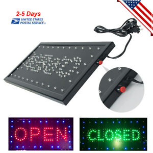 usa sale 9 8 20 47 Bright Led Neon 2in1 Open close Store Shop Business Sign