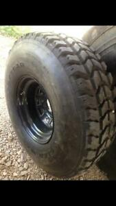 Set Of 5 37x12 50r16 5 Mt Wrangler Military Humvee Hummer Jeep Jk Tires