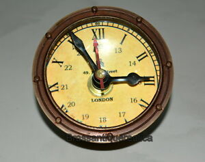 Brass Paper Weight Table Ball Clock 5
