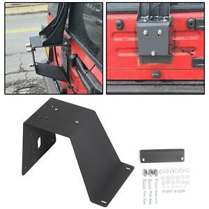 Fit Jeep Wrangler Yj Tj 87 06 Spare Large Tire Carrier Textured Black 11585 01