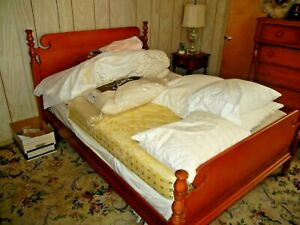 Antique Early American Maple Bed Headboard And Footboard