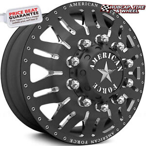 American Force Omen 24 x8 25 Black Dually Wheels set Of 6 forged