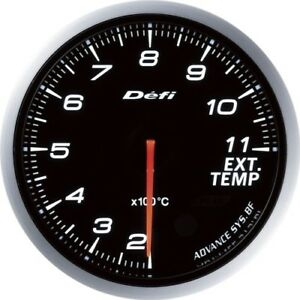 New Defi Df10601 Defi Link Meter Advance Bf White Exhaust Temp Gauge From Japan