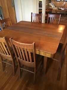 Antique Dining Room Set Arts Crafts Mission Stickley Period Will Ship