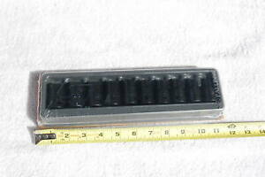 New Snap On 310immya 10 Piece Metric 1 2 Drive 6 Point Shallow Impact Socket Set
