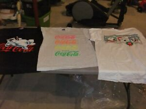 Coca-Cola T-Shirt---Group of 3    2 XL & 1 Large