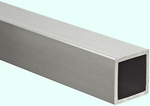 Aluminum Hollow Square Tube 1 I d X 1 1 4 O d X 72 Long 1 8 Wall